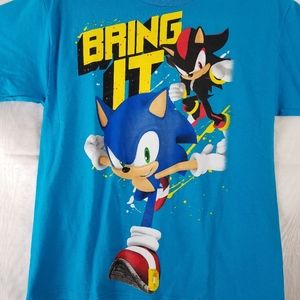 "Sonic The Hedgehog ""bring It"" blue Shirt XL"